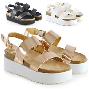 Womens Low Heel Platform Wedge Sandals
