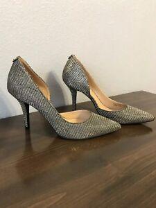 NEW-Michael-Kors-MK-Glitter-Chain-Mesh-Pump-Shoes-Size-8-Nathalie-Flex-High-Pump