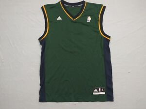 brand new 81a51 5adae Details about M157 New ADIDAS Utah Jazz Devin Harris Blank Front Green  Jersey MEN'S Sizes