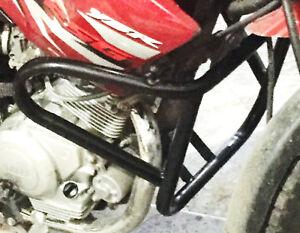Nuevo-Protector-De-Motor-De-Yamaha-YBR125-Negro-Ybr-125-protectores-De-Barras-de-Choque