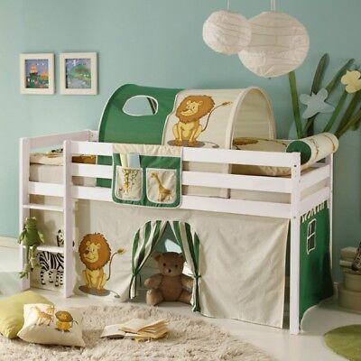 Hochbett Tüv En Geprüft Spielbett Kinderbett Kinderzimmer Massiv Holz B Ware Ebay