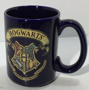 Harry Potter Hogwarts School Crest Coffee Mug 2000 Warner Bros. Blue Hallmark