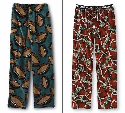 Mens Football Pajamas Pants Size Small,Medium,Large Green Winter Fleece NEW NWT