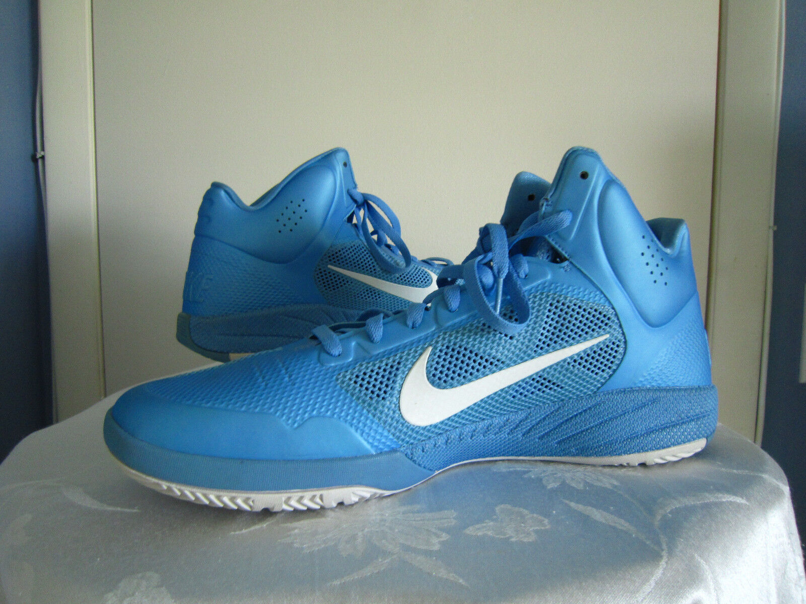 NIKE Zoom Hyperfuse bluee Basketball Sneakers shoes Mens 407623-402  Sz 17.5
