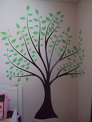 Large Wall Tree Baby Nursery Decal Leaf Cherry Blossom Sticker Girl Flower Oak