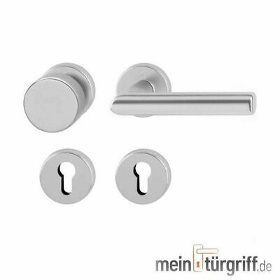 Hoppe Türdrücker New York Rosette WE Alu F1 Türgriff Wechselgarnitur Knopf//Griff