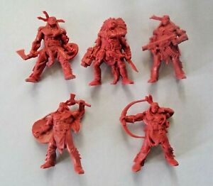 5pcs-Indians-Fantasy-Battles-Plastic-Toy-Soldier-54mm-1-32-scale-Tehnolog-red