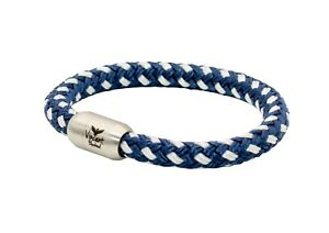 Segeltau Armband Blau Weiss Handgemacht In Geschenkverpackung