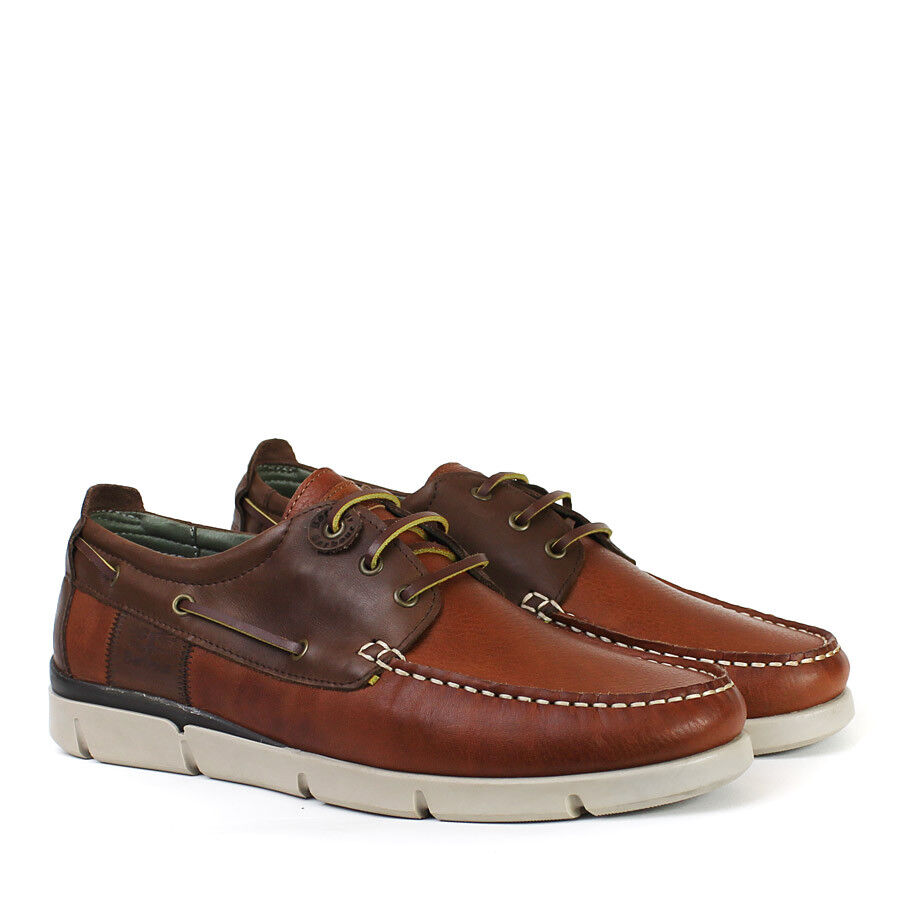 Barbour - - George Boat Schuhes in Cognac - Barbour Größe UK 7 - d9a40b