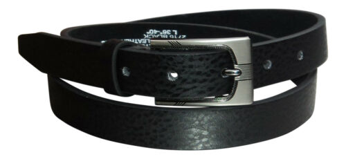 """28/"""" Men/'s Leather Belt 48/"""" Gift Box Option by Milano® Black or Brown"""