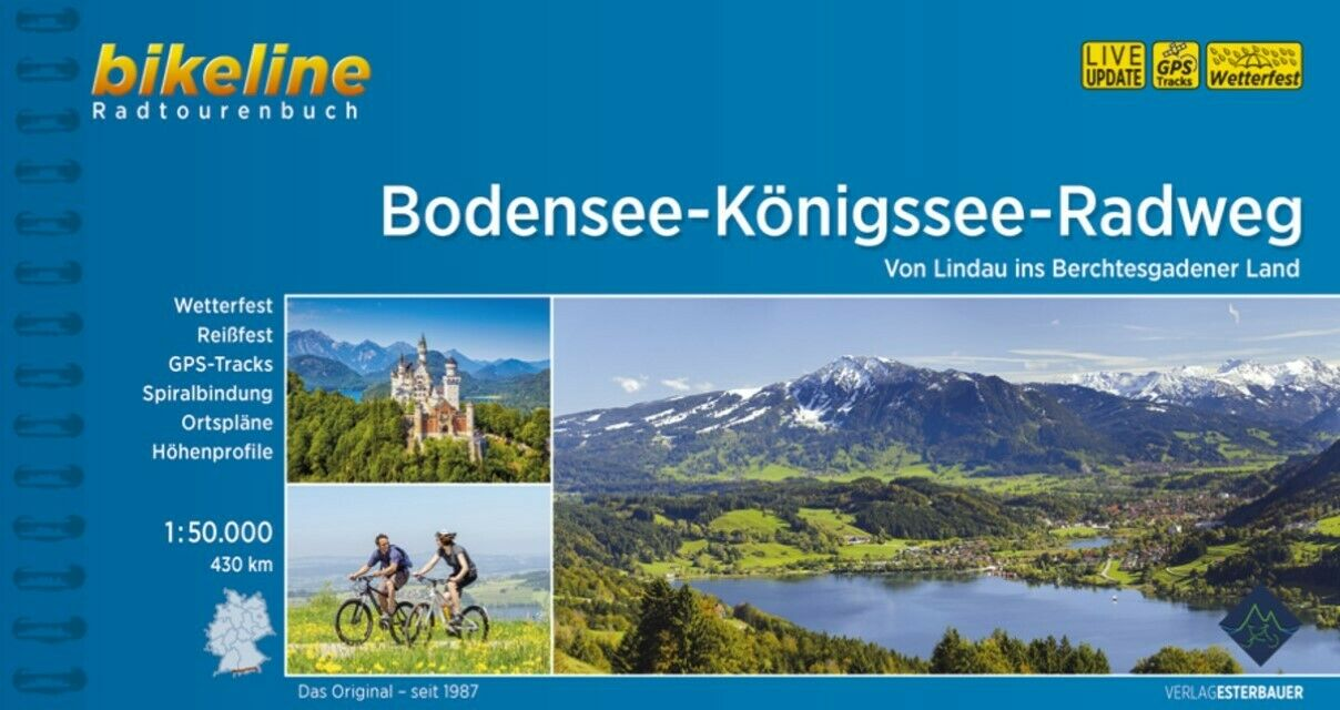 Bikeline Radtourenbuch Bodensee-Königssee-Radweg  Bikeline Radtourenbücher Bik