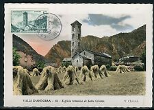 Andorre - Carte maximum 1956 - Eglise de Sainte Coloma