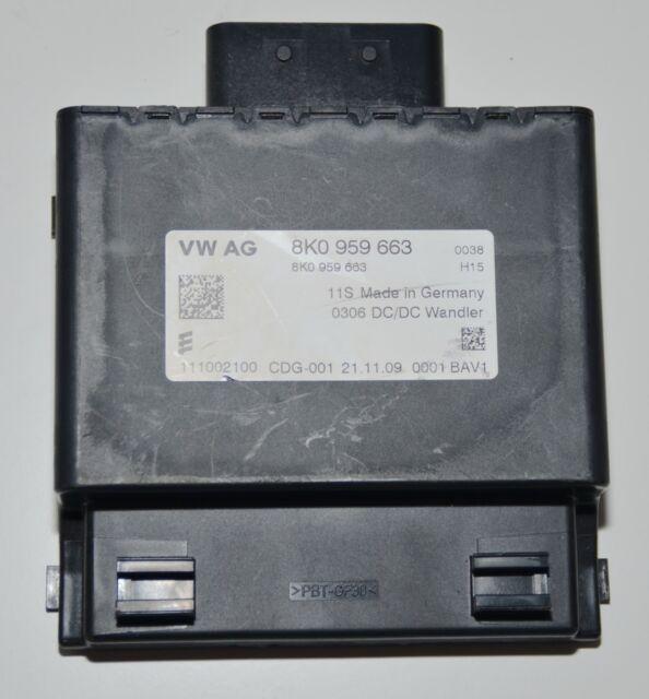 Audi A3 8P A4 8K A5 Spannungswandler Steuergerät Wandler 8K0 959 663 8K0959663