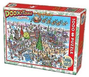 Cobblehill Puzzles 1000 piece- Doodletown: 12 Days Of Xmas CBL53505 Jigsaw