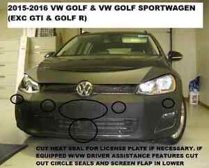 Lebra-Front-Cover-Bra-Fits-2015-2017-Volkswagen-Golf-amp-Golf-Sportwagen