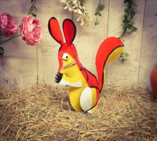 Hand Crafted Sculptured Metal Colourful Squirrel Display Ornament Countryside