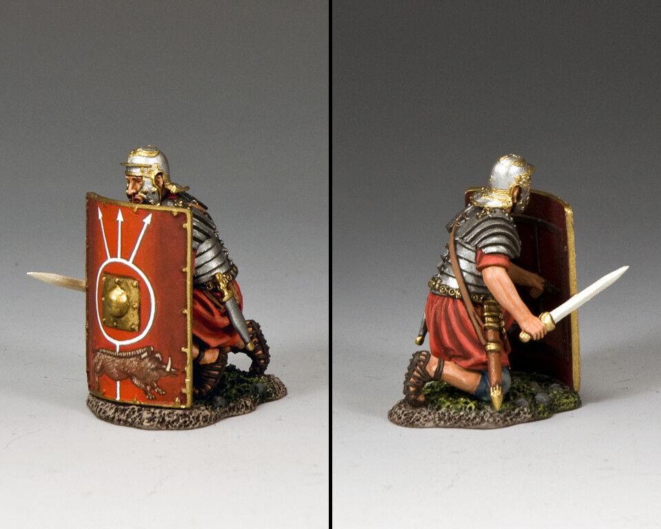 KING AND COUNTRY Romans - Fighting with Sword (Kneeling) (Kneeling) ROM018 Painted Metal