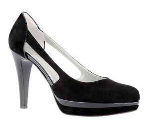 Scarpe donna decolt NERO GIARDINI n 38 apertura laterale camoscio nero