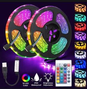 Led Strip Lights RGB 5050 Colour Changing Lighting Tape Kitchen Under Cabinet TV