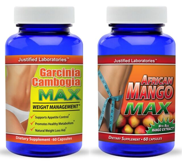 Pure Garcinia Cambogia 60 Hca African Mango 1200mg Weight Loss Appetite Control