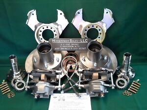 Details about Ford F100 4WD front Drum-to-DISC BRAKE CONVERSION KIT dana 44  w/Closed Knuckles
