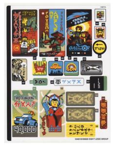 Lego Sticker for Set 70620 Sheet 1 from Ninjago City Ninja Set