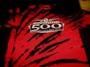 INDIANAPOLIS-500-88th-Running-May-2004-Auto-Racing-Tie-Dye-T-Shirt-Nice-MED