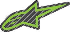"ALPINESTARS Astars 3.5"" Carbonite Decal/Sticker (Green/Black)"