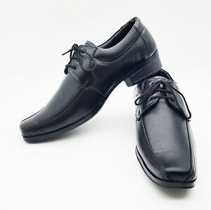 c47d2676c1d4 Image is loading TEENAGER-ADULT-YOUNGER-SCHOOL-COLLAGE-BLACK-LEATHER-SHOES-