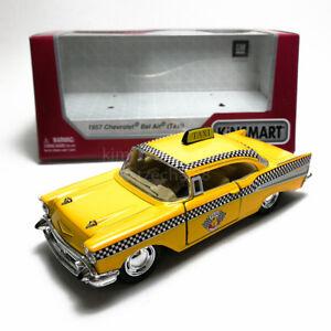 Kinsmart-1-40-DIE-CAST-1957-CHEVROLET-BEL-AIR-VERSIONE-TAXI-modello-di-auto-con-scatola