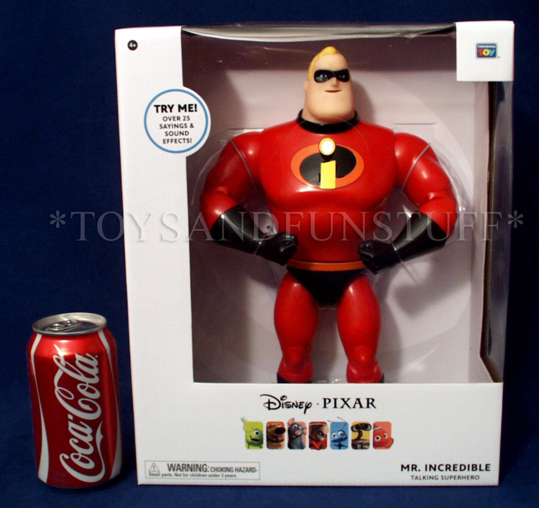 New 12  MR. INCREDIBLES TALKING SUPERHERO Figure Thinkway Toys PIXAR COLLECTION