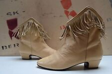 PINO COVERTINI Stiefelette Fransen TRUE VINTAGE ankle boots chimayo stil Stiefel