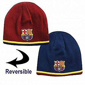 149b47f5abb Image is loading FC-Barcelona-Reversible-Beanie-Hat