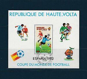 Haute-Volta-bloc-coupe-du-mond-d-football-1982-num-BF-19-oblitere