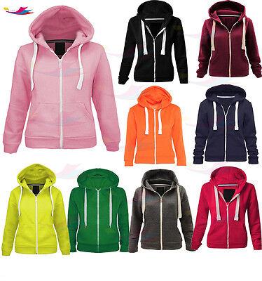 New Unisex Kids Boys Girls Zip Hoodie Hoodies Sweatshirt Fleece Jumper Top 3-13