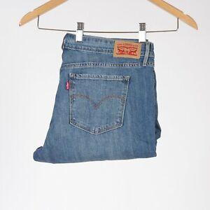 Levi-039-s-711-Skinny-Crushed-Damen-blau-jeans-W31-L30-31-30