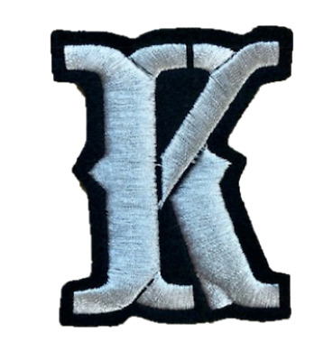 """Custom Patch Embroidered 2/"""" 80/'s Block Font FELT Iron on LETTER Patches"""