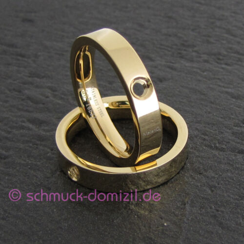 nuevo-Melano Twisted-ring Tatum-acero inoxidable dorado-talla 58