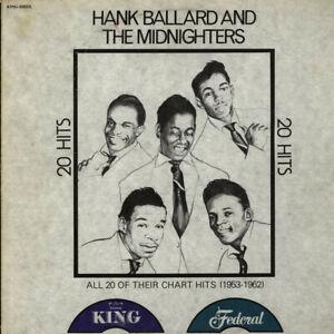 Hank-Ballard-amp-The-Midnighters-20-Hits-All-Vinyl-LP-1977-US-Original