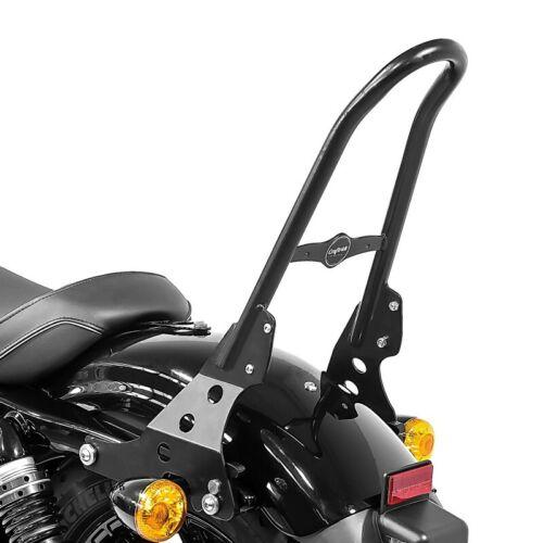 Sissy Bar Detachable+Luggage Rack CSM for Harley Davidson Sportster 04-20 black