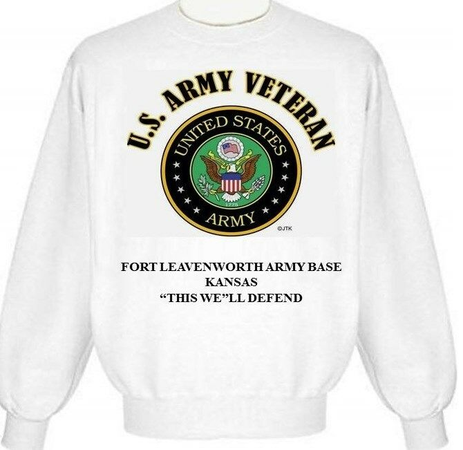 FORT LEAVENWORTH ARMY BASE KANSAS ARMY EMBLEM SWEATSHIRT