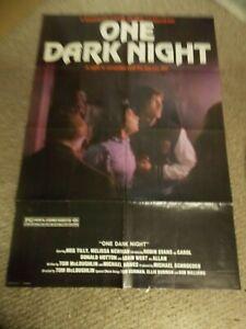 "ONE DARK NIGHT(1982)MEG TILLY ORIGINAL ONE SHEET POSTER 27""BY41"" NICE!"