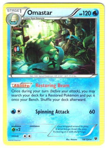 Mint, Pokemon XY Fates Collide Omastar 18//124 Rare