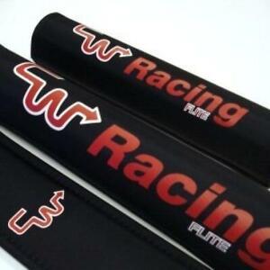CW Racing Black and Red BMX Pad Set