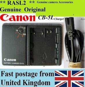 Genuine-CANON-Charger-CB-5L-BP-511A-EOS-50D-40D-30D-20D-10D-5D-MK1-PowerShot-G6