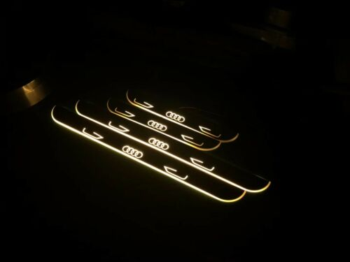 New Logo Car LED Door Sill Scuff Plate Pedal For Audi A1 A3 A4 A5 A6 A7 Q3 Q5 Q7