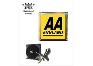 ROYALE STAINLESS CAR GRILL BADGE - AA ENGLAND THE AUTOMOBILE ASSOCIATION - B3.00