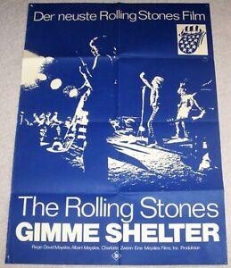 Rar-Original-Poster-FilmPlakat-GIMME-SHELTER-mit-ROLLING-STONES-von-US-Tour-1969