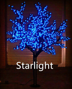 Details About 6ft Outdoor Blue Led Cherry Blossom Tree Christmas Light Home Decor Rainproof
