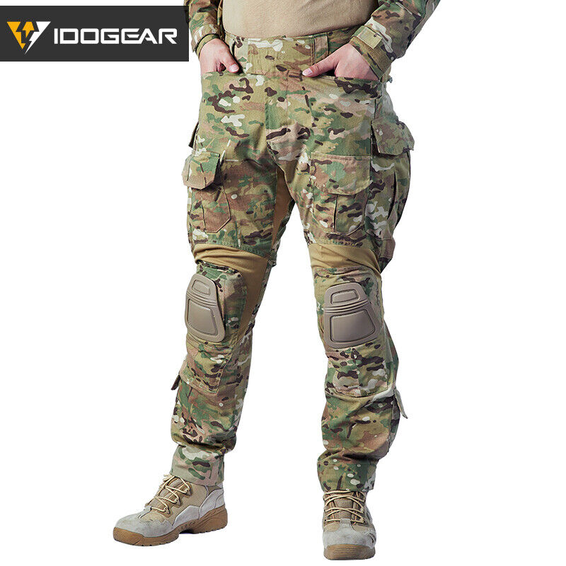 IDOGEAR Airsoft G3 Combat Pants w  Knee Pads  Military Tactical MultiCam Hunting  welcome to buy
